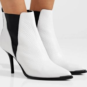 NIB Acne Studios Jemma White Leather Ankle Boots